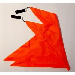 Neon orangene Flags