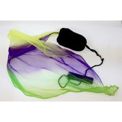 Poi Rainbow Lila-Gelb-Grün für Kinder (Kurz)