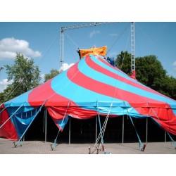 Vermietung: Rundes 2-Mast Zirkus- und Partyzelt